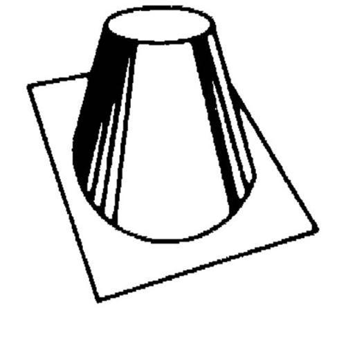 FMI V6F-10DM Roof Flashing 0-12 - 6-12 Pitch for 12 Inch Chimney Pipe  For Wood Fireplace