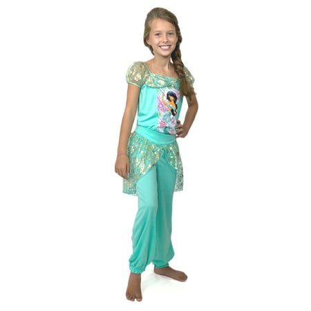 Disney Princess Jasmine Girls Fantasy Pajamas (Little Kid/Big Kid) 21DP320GSL](Princess Jasmine Pajamas)