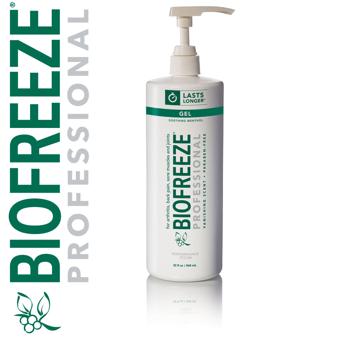 Biofreeze Professional 32oz Pump Green Gel
