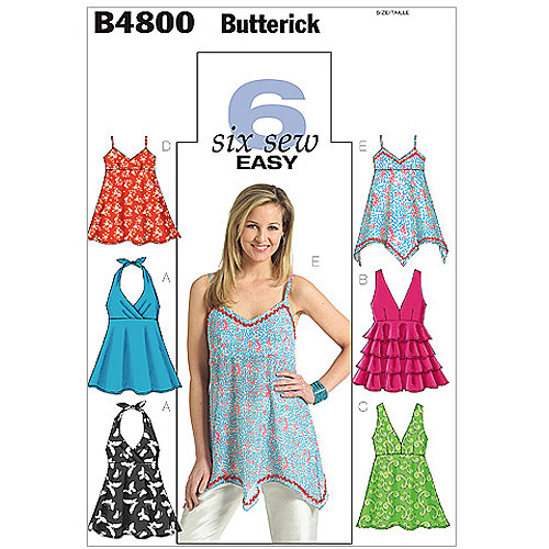 Butterick Pattern Misses' Top, AA (6, 8, 10, 12)