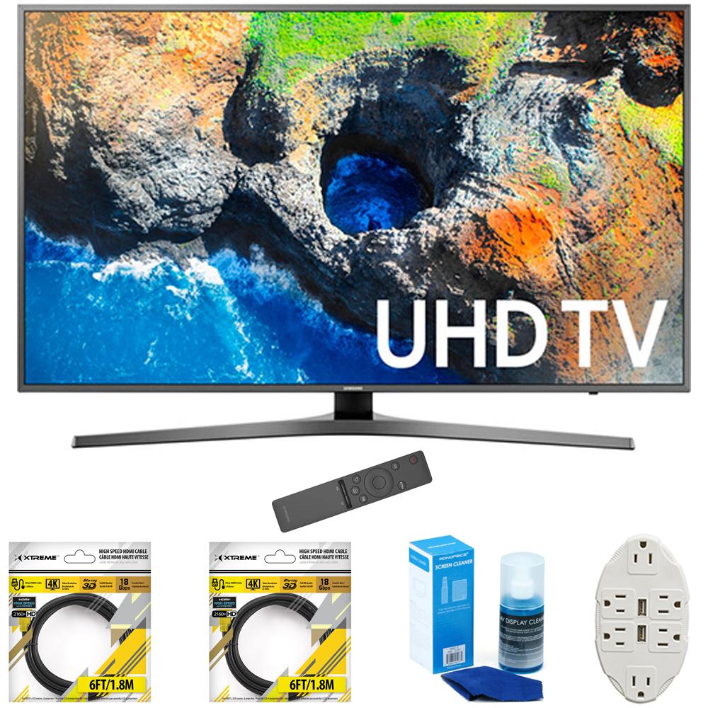 "Samsung 48.5"" 4K Ultra HD Smart LED TV 2017 Model (UN49MU7000FXZA) with 2"