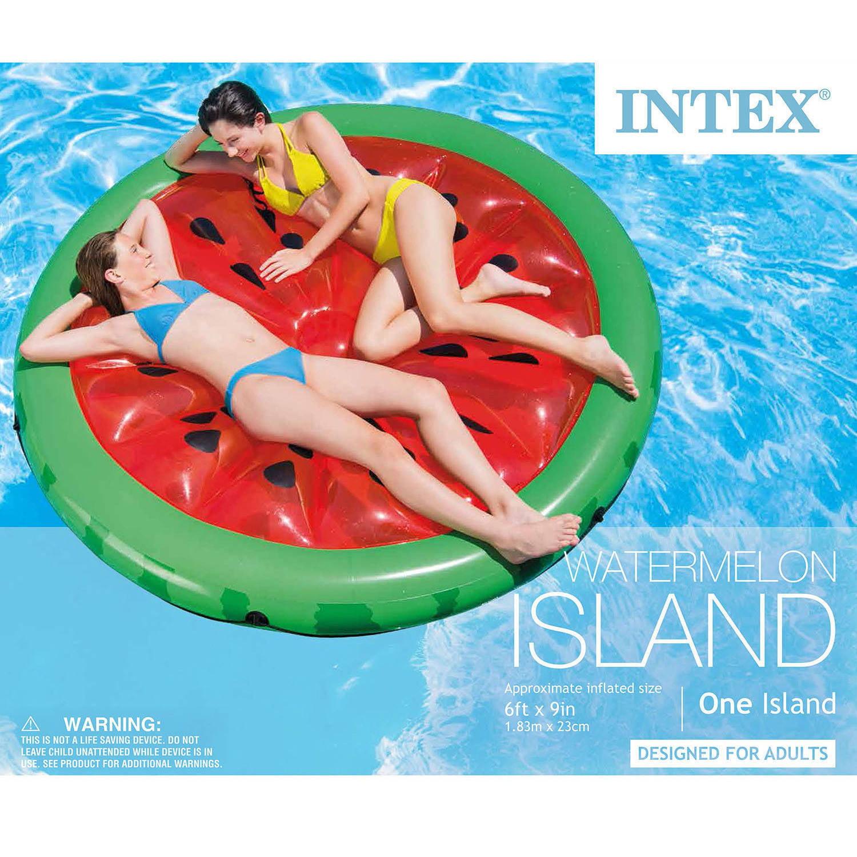 Intex Inflatable Watermelon Island Float Lounge Walmart