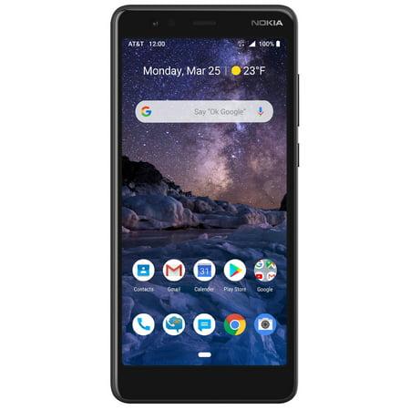 AT&T PREPAID Nokia 3.1 A 32GB Prepaid Smartphone, Black (Nokia Phones For Tmobile)