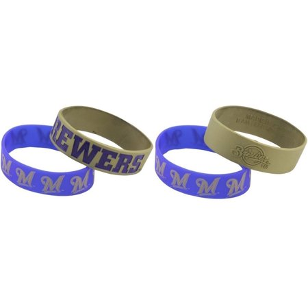 MLB Milwaukee Brewers Bulk Bandz Bracelet (Pack of 2), Available in all major leagues By Forever Collectibles](Baseballs For Sale In Bulk)