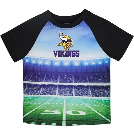 new style 5973f 0775d Toddler Gerber Black Minnesota Vikings Stadium T-Shirt