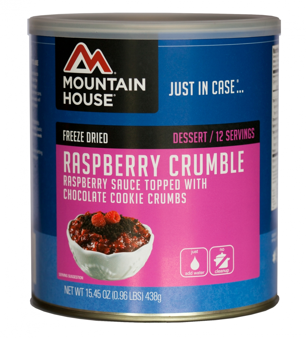 Mountain House (6 Pack) Raspberry Crumble Dessert #10 Can by Mountain House