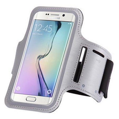 Tech Express Sport Gym Armband for Samsung Galaxy S7 (with Key Pocket) - Gray