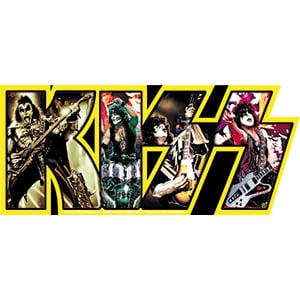 Kiss Band Logo Yellow, Artwork Vinyl - Decal -