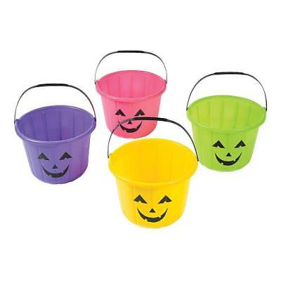 IN-13746391 Neon Jack-O'-Lantern Trick-or-Treat Buckets Per Dozen