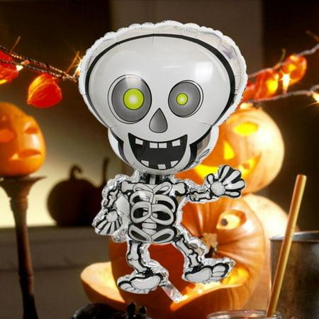 Walfront Scary Dancing Skeleton Foil Balloon Bar Ktv Party Decor