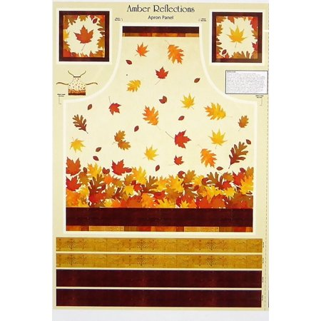 Amber Reflections~Fall Leaves Apron Panel 29
