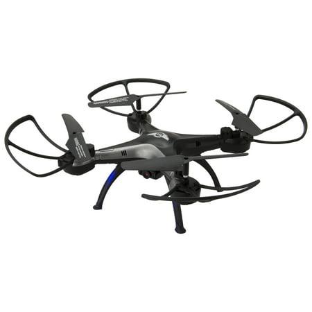 Sky Rider Thunderbird 2 Quadcoptor Drone with Wi-Fi Camera, DRW330, Black
