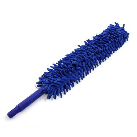 blue plastic handle chenille microfiber car cleaning duster wax treated brush. Black Bedroom Furniture Sets. Home Design Ideas