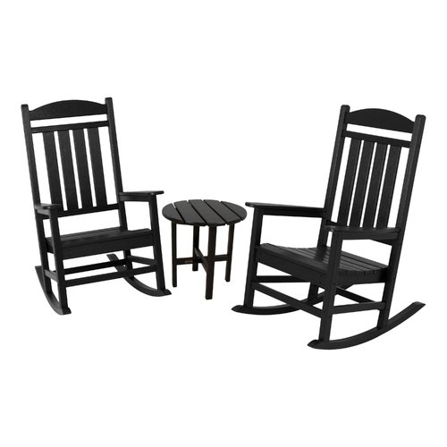 POLYWOOD® Presidential 3 pc. Rocker Set with Round Side Table
