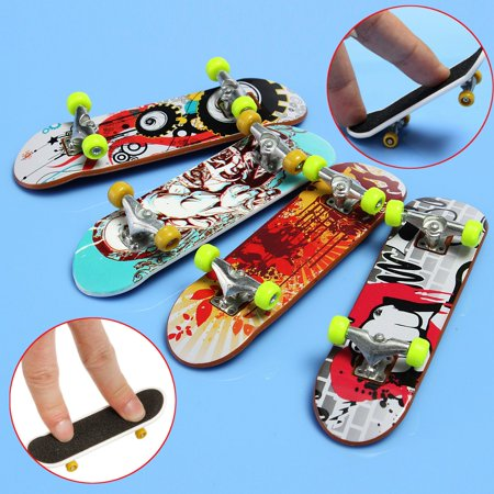 5Pcs Mini Fingerboards Finger Board finger skateboard Skateboard Kids Children Toy Birthday Gift Ramdom Pattern - Pack Skateboard Fingerboard