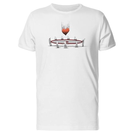 Heart Falling Catching Love Tee Men's -Image by