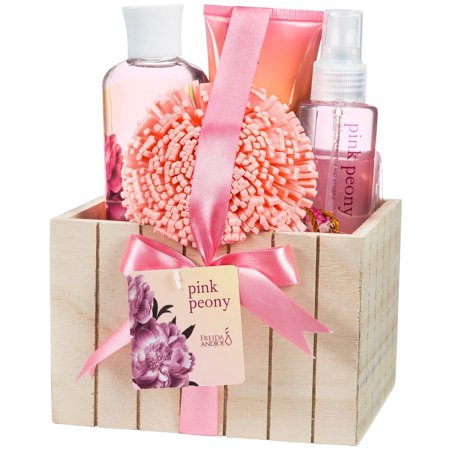 Pink Peony Spa Bath Gift Set Box
