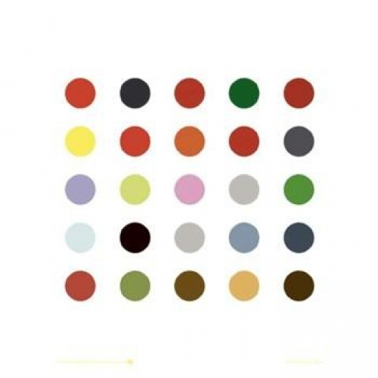 Abstract Dots - 25 Poster Print (16 x 16)