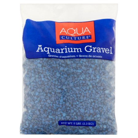(2 Pack) Aqua Culture Dark Blue Aquarium Gravel, 5 lb