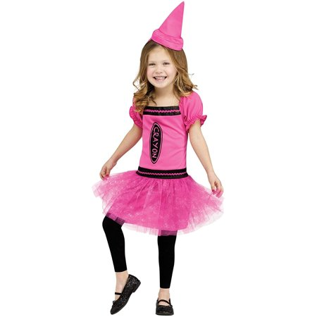 Toddler Pink Lady Costume (Very Pretty Pink Crayon Girl's Toddler)