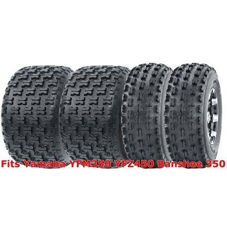 Set 4 WANDA Sport ATV Tires 21x7-10 & 20x10-9 Yamaha YFM350 YFZ450 Banshee