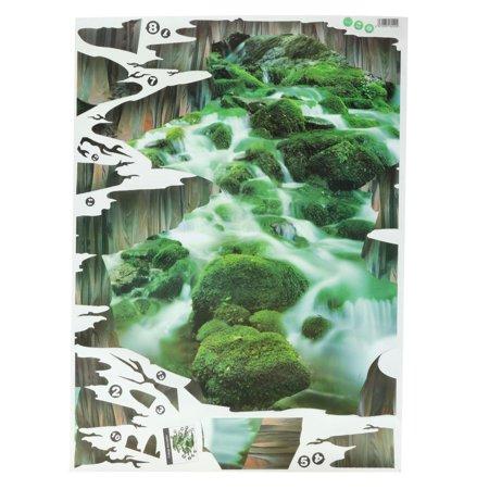 3D Stream Floor/Wall Sticker Removable Mural Decals Vinyl Art Home Decoration - image 4 de 5
