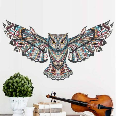 Creative Large Owl Removable Wall Sticker Art Vinyl Decal Mural Home Bedroom Decor - image 4 de 5