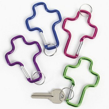 - Aluminum Cross Clip Key Chains - Bulk (1-Pack of 12), Metallic Aluminum Cross Clip Key Chains By Fun Express