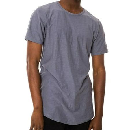 - Jaywalker NEW Gray Slate Mens Size XL Extended-Hem Crewneck Tee T-Shirt