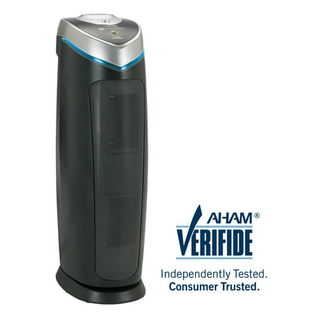 Germ Guardian GermGuardian®AC4825DLX 4-in-1 Air Purifier with HEPA Filter, UVC Sanitizer and Odor Reduction, 22-Inch Tower Austin Air Hepa Air