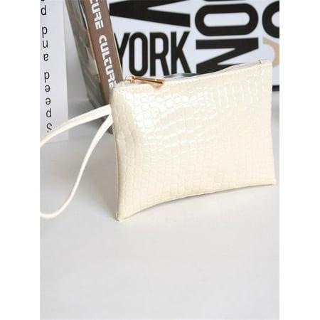 7f03c01bd9c4 Women Crocodile Leather Clutch Handbag Bag Coin Purse Wallet BK