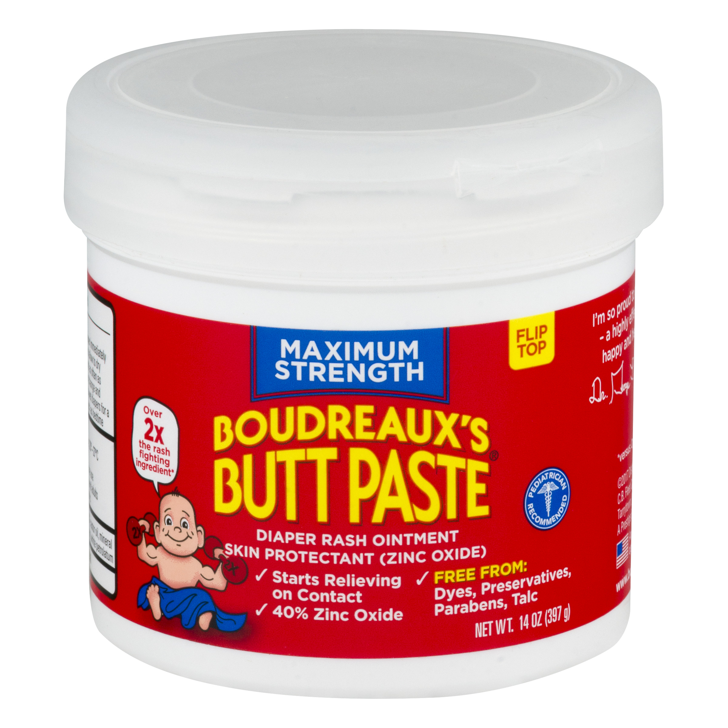 Boudreaux's Butt Paste Diaper Rash Ointment, Maximum Strength, 14 Ounce by Boudreaux%27s Butt Paste