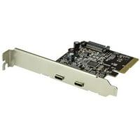 Startech.Com Dual-Port USB-C Card - 10Gbps per port - 2x USB-C - USB 3.1 - PCIe