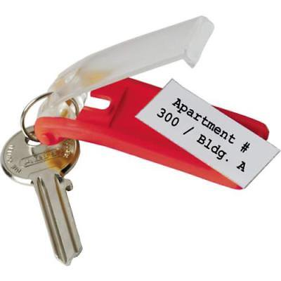 Red Modern Key Box Replacement Key Tags,6 pack per unit 6 Pack Key Tags For Modern Key Boxes - Red - PKG Of 6 - Each Package Contains 6 Key Tags - Easily Customize Your Key Tags With Any Pen Or Marker