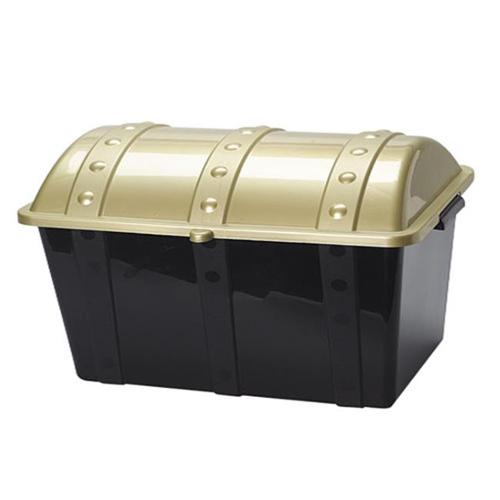 US Toy Company Plastic Treasure Chest (3 Packs Of 1)