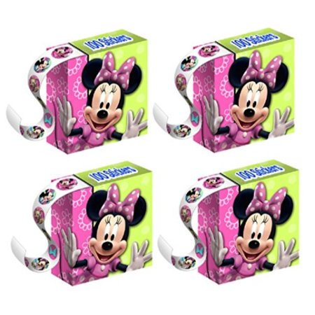 Minnie Stickers (Minnie Mouse Party Favors - Minnie Mouse Stickers - 4 Boxes of 100)
