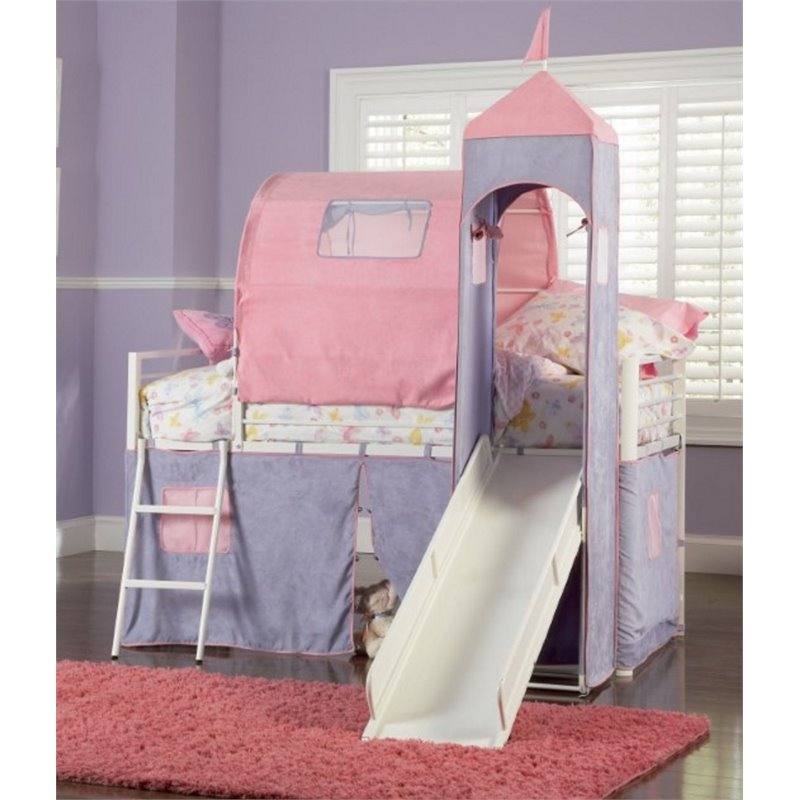 Powell Furniture Princess Castle Twin Metal Loft Bed with Slide  sc 1 st  Walmart & Powell Furniture Princess Castle Twin Metal Loft Bed with Slide ...