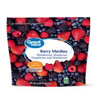 Great Value Frozen Whole Berry Medley, 16 oz