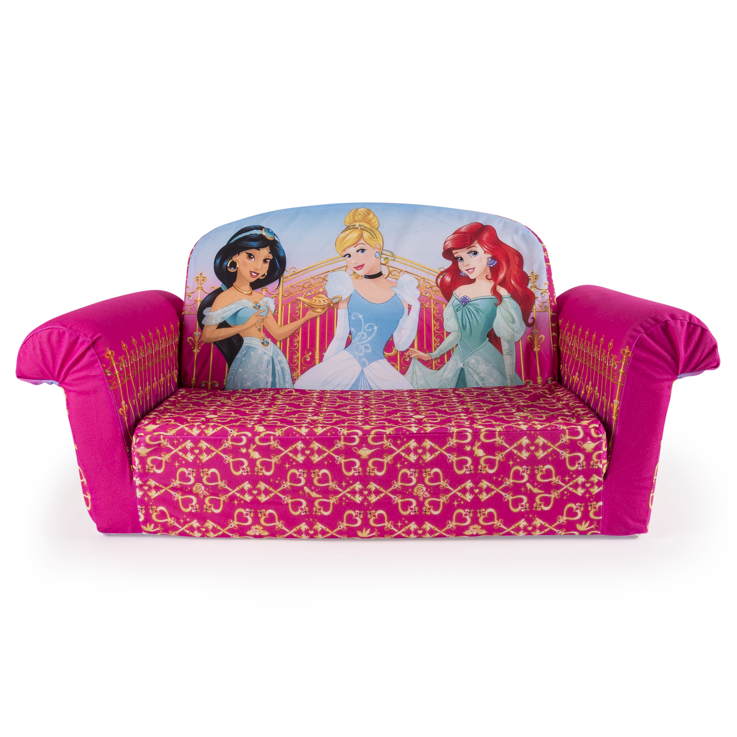Marshmallow Furniture, Childrenu0027s 2 In 1 Flip Open Foam Sofa, Disney  Princess, By
