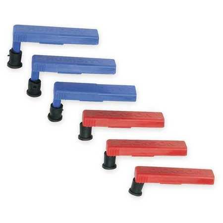 DICKSON P246 Replacement Pen Kit, 3 Red, 3 Blue (Dickson Chart Pen)
