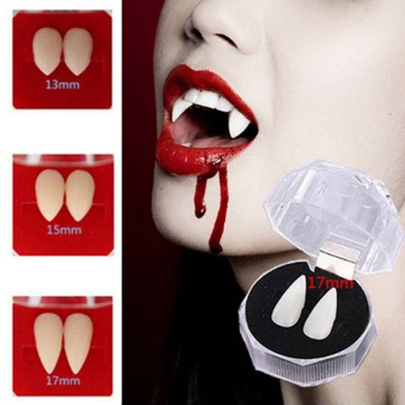 Vampire Halloween Party Decorations (2Pairs Halloween Vampire Zombie Denture Spoof Toy Party Fangs Masquerade)