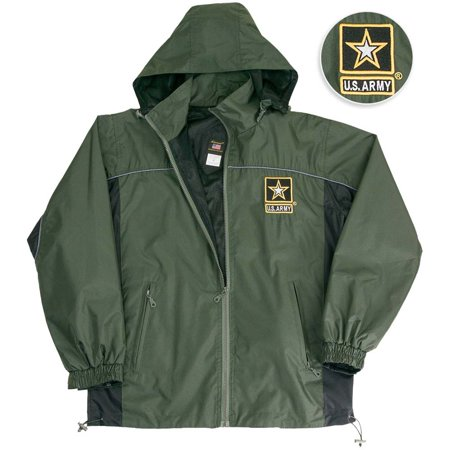 Us Army Hooded Light Weight Wind Breaker Jacket