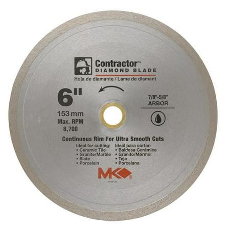 MK Diamond 167566 Continuous Rim Wet Tile Blade, 6 in.
