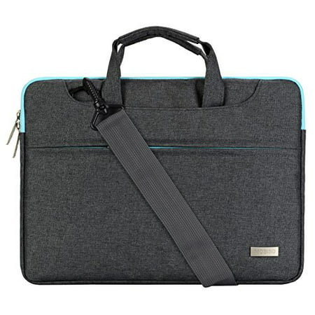 Delsey Briefcase - Laptop Shoulder Bag for 13-13.3 Inch MacBook Pro, MacBook Air, Notebook Polyester Briefcase Sleeve Case Cover Handbag with Back Belt for Trolly Case,Gray