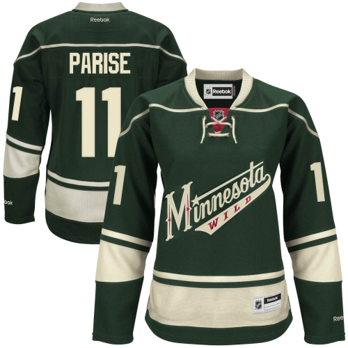 Zach Parise Minnesota Wild Reebok Women's Premier Player Jersey - Green