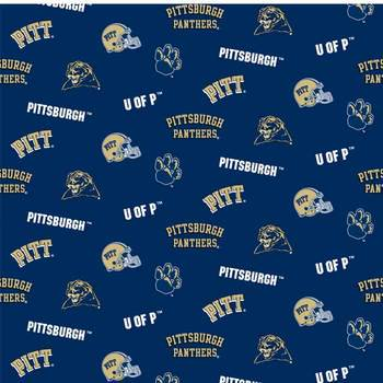 NCAA Pittsburgh Panthers Fleece Fabric, per Yard