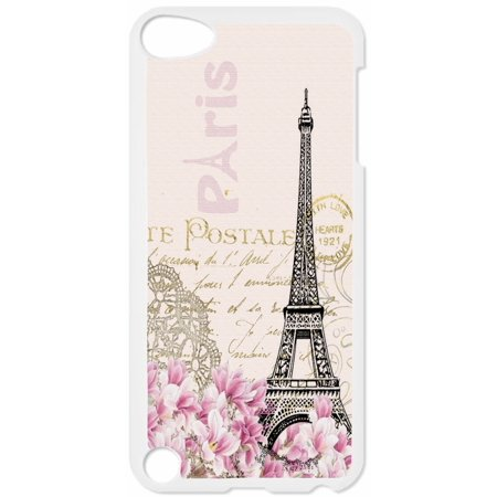 Vintage Paris Design Hard White Plastic Case Compatible with the Apple iPod Touch 5th Generation - iTouch 5 Universal (Itouch 5th Generation)
