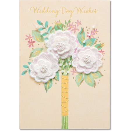 American greetings floral wedding card with glitter for Glitter wedding invitations walmart
