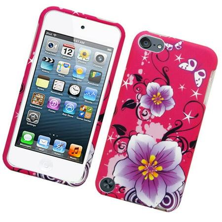 Insten Flowers Hard Rubberized Case For Apple iPod Touch 5th Gen - Hot