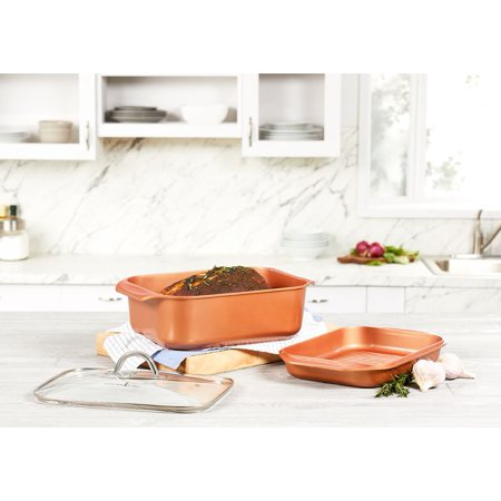 Circulon Chefs Pan - Copper Chef Wonder Cooker 3 Piece Cookware Set